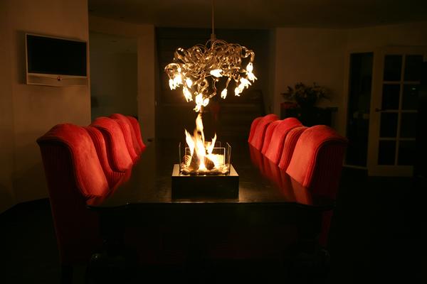 GardenFlame sfeerhaard model Tablelounge Binnen