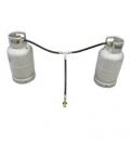 Aluminium staande LPG tank set compleet -lichtgewicht-